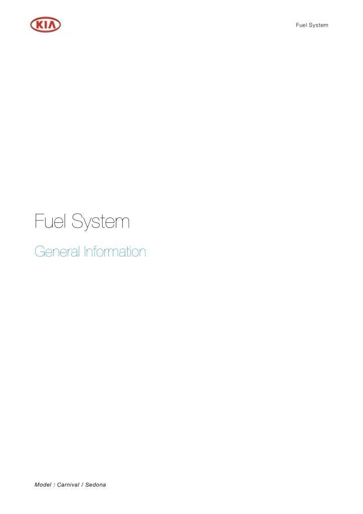 Carnival Sedona Fuel System Pdf  2 26 Mb